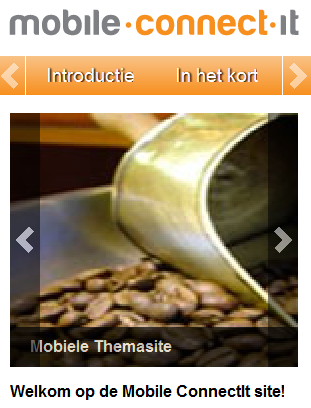 Mobiele website in de lucht